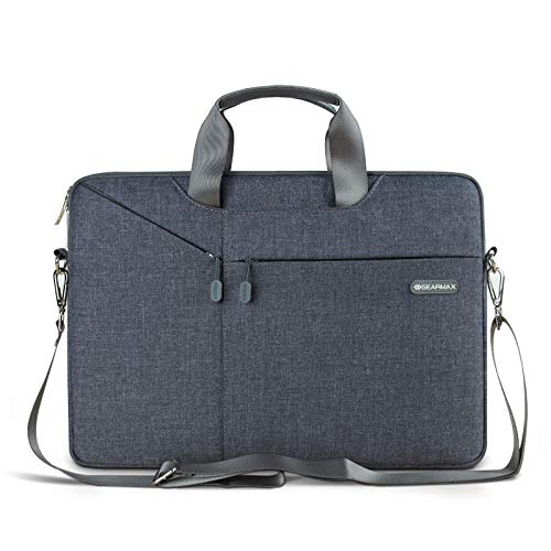 Yinghao Gearmax Laptop Messenger Bag 11 12 13 14 15 Borsa da Uomo per MacBook Air PRO 13 Borsa per Notebook Impermeabile in Nylon per Xiaomi PRO 15 6-Grigio Scuro_15,4 Pollici