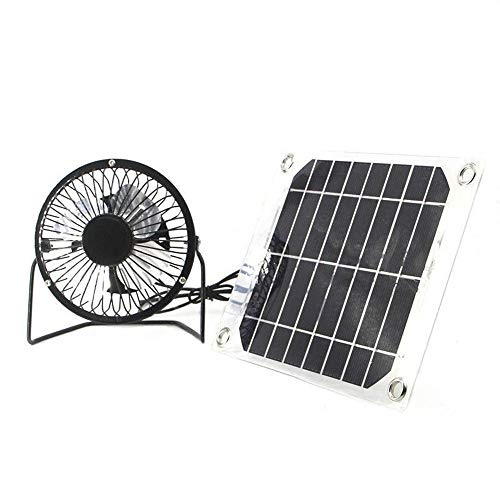Solar fan 5W 4 inch free energy for Greenhouse motorhome House Chicken House outdoor Home cooling chicken coop by Seddex