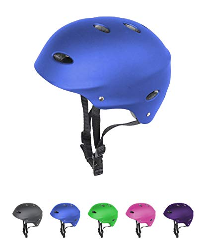 La Sports Blue Junior Kids/Childs/Childrens Urban Skate Helmet Ideal For Skateboard, BMX Bike and Stunt Scooter Age Guide 3, 4, 5, 6, 7, 8 years