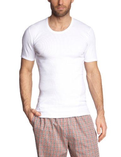 Schiesser Herren Unterhemd Doppelripp 205175-100, Gr. 6 (L), Weiß (100-weiss)