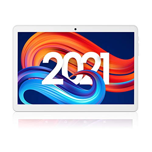 Victbing Android 10.0 Tablet 10 inch, 2GB RAM, 32GB, Quad-Core, 3G SIM Phone Tablets, Dual Cameras & Speakers, 1280x800 IPS HD Touchscreen, WiFi, Bluetooth, USB Type-C, Google Certified, GPS – Silver