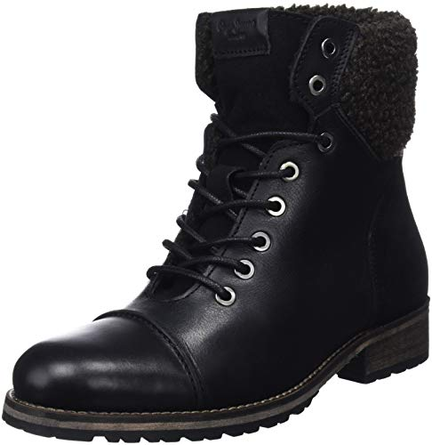 Pepe Jeans London Melting Warm, Botines para Mujer, Negro (Black 999), 39 EU