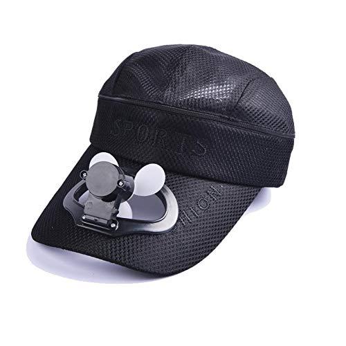 JSSEVN Gorra de ventilador para verano, gorra de ventilador, con carga USB, gorra de béisbol, para camping al aire libre
