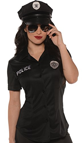 Women's Police Shirt Fancy dress costume Medium