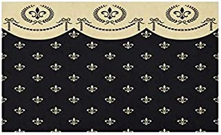 Lunarable French Doormat, Pattern of Fleur de Lis Illustration Baroque Inspired Print, Decorative Polyester Floor Mat with Non-Skid Backing, 30