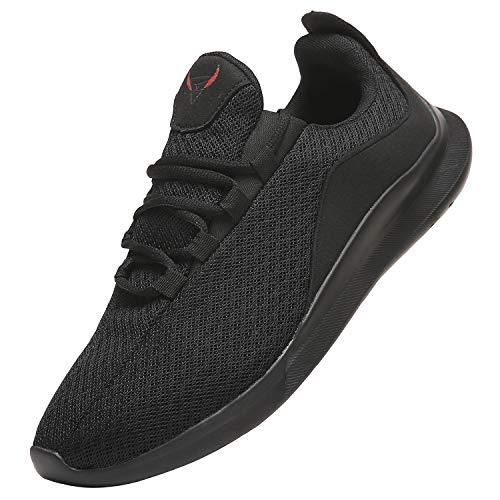 PAGCURSU Scarpe da Ginnastica Tennis Casual Sportive Uomo Offerta, Leggere Sneakers Scarpa Running Uomo, Nero, 45 EU