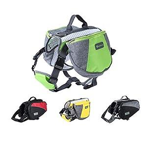 Wellver Dog Backpack for Hiking, Saddle Bag for Pets, Lightweight Travel Bag and Hiking Bag for Dogs (L, Gray + Black)