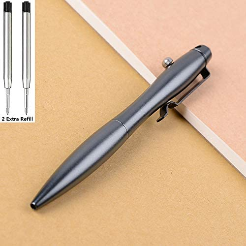 Sukcruny Solid Aluminum Alloy Bolt Action Pen Signature Pen Ballpoint Pen 0 5mm Medium Line product image