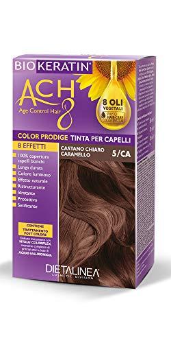Dietalinea - Color Prodige 8 Effetti Tinta per Capelli 5/CA Castano Chiaro Caramello