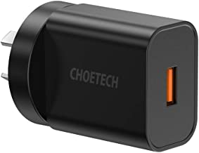 USB Wall Charger,CHOETECH Quick Charge 3.0 Wall Charger, 18W USB Wall Charger Travel Adapter Fast Charging Compatible with iPhone 11 Pro Max, Samsung Galaxy Note 10,S10, Note 9, S9, Note 8, S8, LG