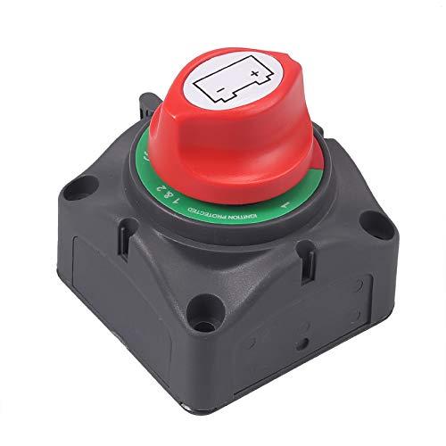 Proster Interruttore Stacca Batteria 12V/24V300A Isolatore di Batteria Pulsante Rimovibile per Macchina Camion Barca Furgone Caravan Automobili Elettroniche