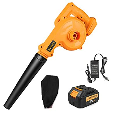 Waspt Cordless Leaf Blower, 20V MAX Lithium Cordless Sweeper, 3.0 Ah Battery & Charger Included