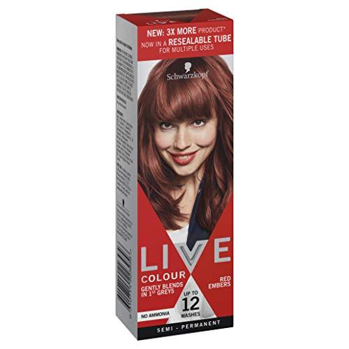Schwarzkopf LIVE Colour Semi Permanent Hair Colour Red Embers 75ml