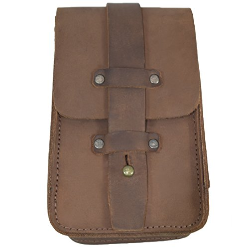 Thick Leather Bartender Bottle Opener/Corkscrew Holster Fanny Pack Belt Pouch Handmade by Hide & Drink :: Bourbon Brown