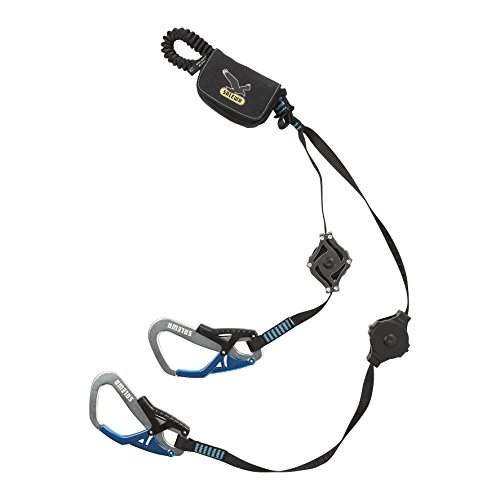 SALEWA Klettersteigset Set Via Ferrata Ergo Zip, Black/Blue, 27.5 x 17.5 x 6.5 cm