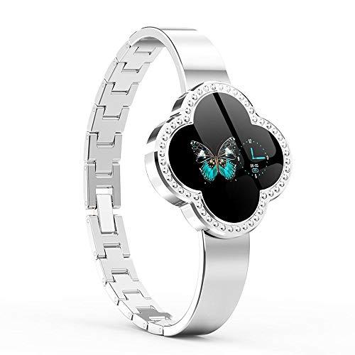 applemi Smartwatch per Donna,Ip68 Impermeabile, Fitness Tracker Bluetooth con Notifica di Chiamata SMS Monitor della Frequenza Cardiaca Sonno Compatibile con Android e iOS-Argento