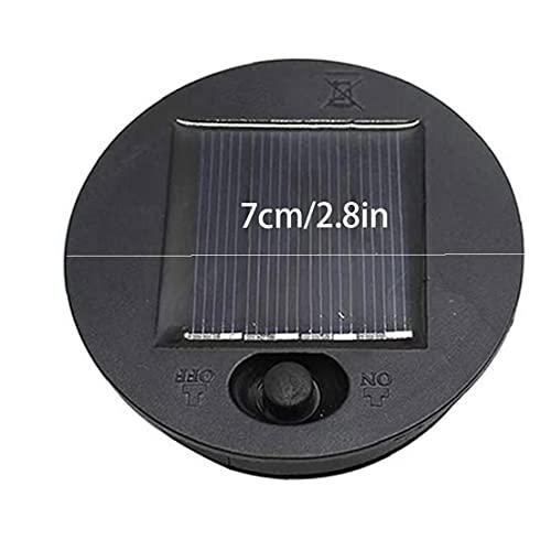 JIAWA Luces solares Reemplazo Top Top Panel Solar Tapa Linterna Bulbo Repuesto Parte 7 cm 2pcs Instalaciones de jardín