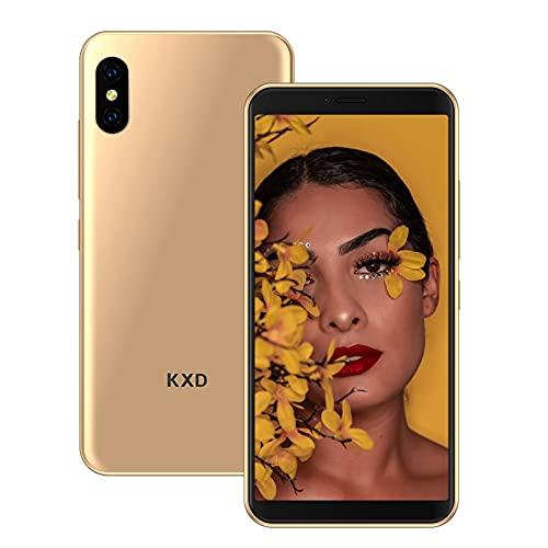 Smartphone Offerta del Giorno KXD 6A Cellulari Offerte 5.5 Pollici 8GB ROM 64GB Espandibili Dual SIM Cellulari Offerte Android Face ID Economici Telefoni Mobile, Oro