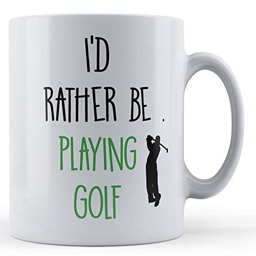 Grappige mok golf club liefhebber ik liever spelen golf - gift mok door vader vos