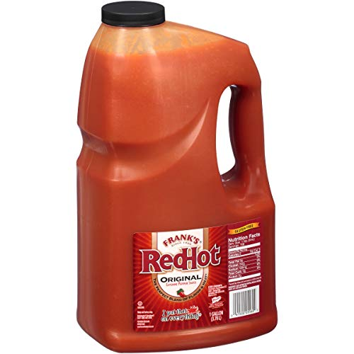 Frank#039s RedHot Original Cayenne Pepper Hot Sauce 1 Gallon  One Gallon Bulk Container of Cayenne Pepper Hot Sauce to Add Flavorful Heat to Entrees Sides Snacks and More