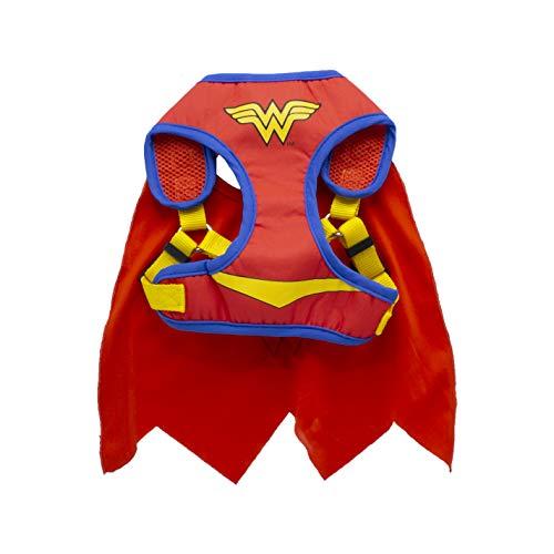 DC Comics for Pets Wonder Woman Geschirr für Hunde, Größe S | Superhelden-Hundegeschirr | Geschirr für kleine Hunderassen | erhältlich in Mehreren Größen, Siehe Größentabelle für Details