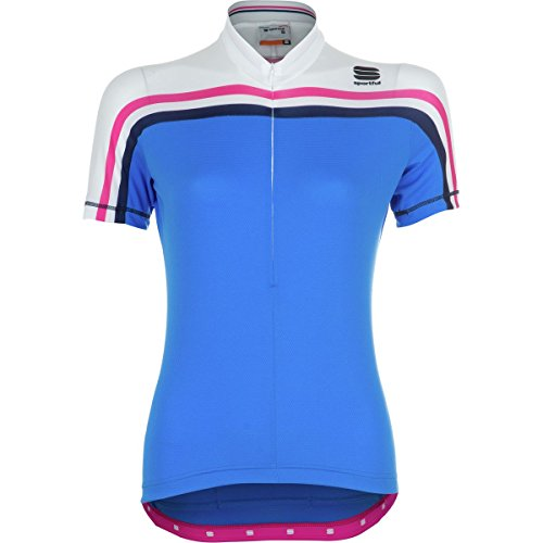 Sportful allure jersey–Maglietta a manica corta–donna, Donna, Electric Blue/White, Large