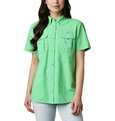 Columbia PFG Bahama II - Camiseta de Manga Corta para Mujer, Transpirable, protección UV, Mujer, Bahama Manga Corta, 1396551, Ciudad Esmeralda, XS
