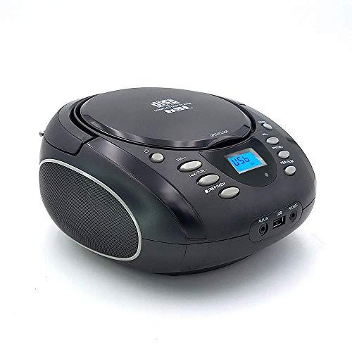 Belson Radio Lector de CD Portátil - Belson PCD-30, Display CD, Radio FM, Aux, MP3, Reproductor Musica USB, Salida Altavoces y Auriculares, Decorado con bandera inglesa