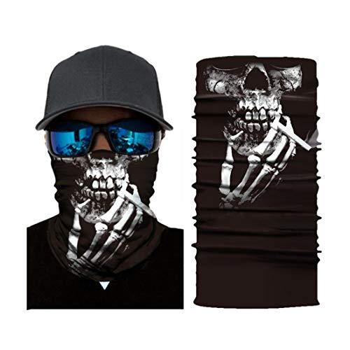 Tinke Bedrucktes Multifunktionstuch 3D Face Shields Bandana aus Mikrofaser für Motorrad, Fahrrad, Skifahren, Wandern - DC005