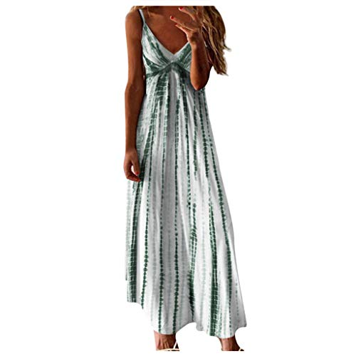 Review Of LATINDAY Women's Summer Dresses Boho Tie Dye Spaghetti Strap Sleeveless Loose Maxi Dress G...