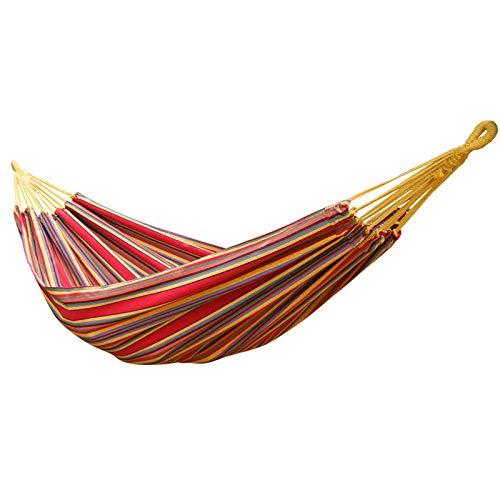 Hamac de plein air pour le camping - Double couleur - Balançoire en toile assortie - Charge maximale 150 kg 200*150 Double arc-en-ciel.