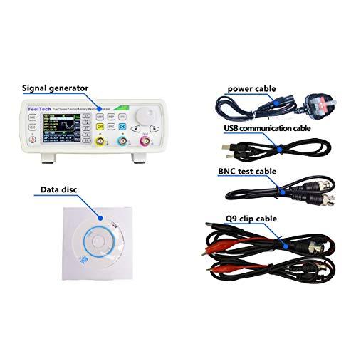 FellTech FY6800-60M 60MHZ 2 canales DDS generador de señal arbitraria 250MSa/s 8192 x 14bits 100MHz medidor de frecuencia de forma de onda VCO UK blanco