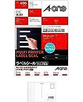 エーワン ラベルシール プリンタ兼用 キレイにはがせる 40面 10枚 31176 (2パック) + 画材屋ドットコム ポストカードA
