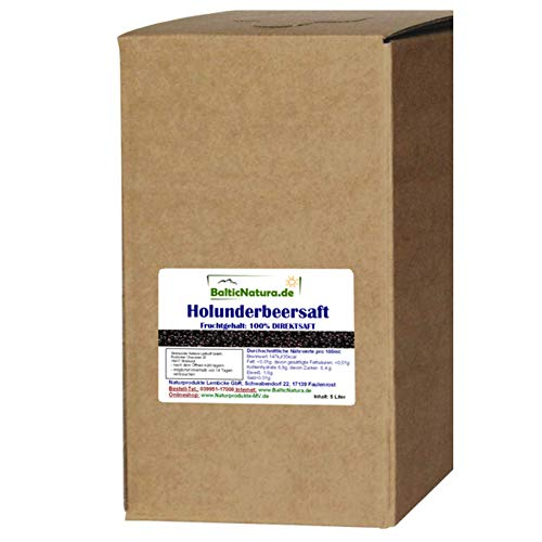 100% iger Holundersaft 5 Liter Bag in Box Direktsaft Holunder Saft