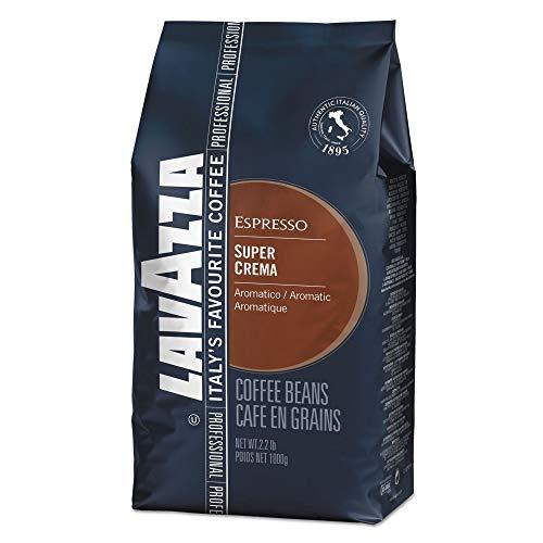 Lavazza LAV4202 Super Crema Espresso Coffee Beans, Italian Bar and Cafeteria (Pack of 6)