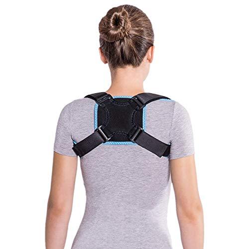 Soporte clavicular para fractura; soporte para conseguir una espalda recta; estabilizador corrección espalda postura en línea recta Large Negro