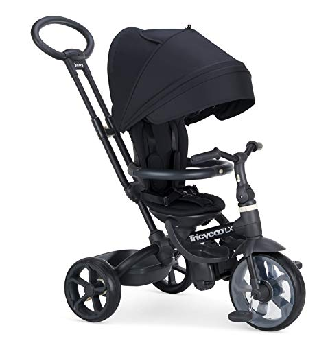Joovy Tricycoo LX Kid#039s Tricycle Push Handle Adjustable Seat 8 Stages Black