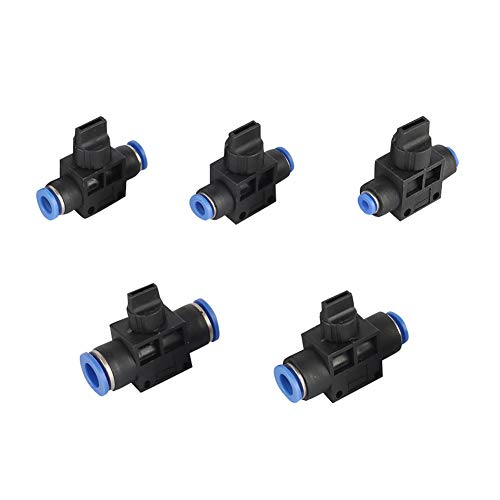Adhere To Fly Pneumatisches Steuerventil Pneumatisches Absperrventil Luftschneller Luftröhrenanschluss für Gas-Wasser-Vakuum 10 Stück (8mm)