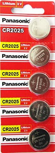 5 x Ansmann Batterie CR2025 Lithium 3V Knopfbatterie CR 2025 Knopfzelle 5020142