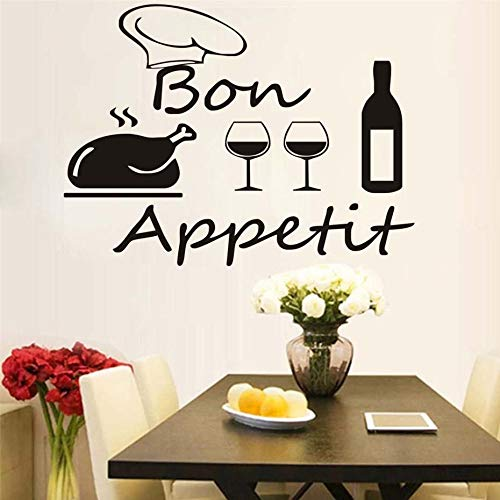 Tianpengyuanshuai French keuken restaurant muur sticker vinyl Turks Chef Wine Bottle and Cup wandlamp Home Decor Modern