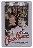 Mehr Relief-Schilder hier... Casablanca - Cartel de chapa de alta calidad (30 x 20 cm), diseño de retrato