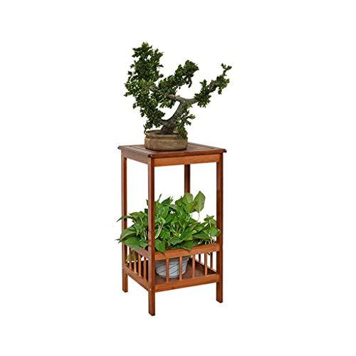 aasdf Soporte para Plantas Soporte para Flores 2 Niveles de bambú Soporte para Plantas de pie Estante para macetas Estante de exhibición Interior Regalos Decorativos para el hogar para la Esposa (