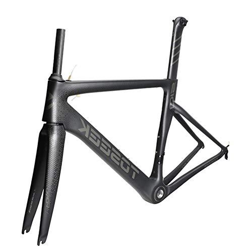 SXMXO Cuadro Completo de Bicicleta de Carretera de Carbono Aero Cycling Racing Bicycle Cuadro de Carbono T800 Cuadro de Bicicleta de Carretera de Carbono 48/51/54/56cm,51cm