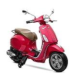 Playkin VESPA ROJA - Moto electrica niños oficial bateria 6V recargable...