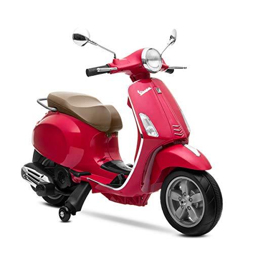 Playkin VESPA ROJA - Moto electrica niños oficial bateria 6V recargable triciclo +3 años juguetes infantiles triciclo correpasillos