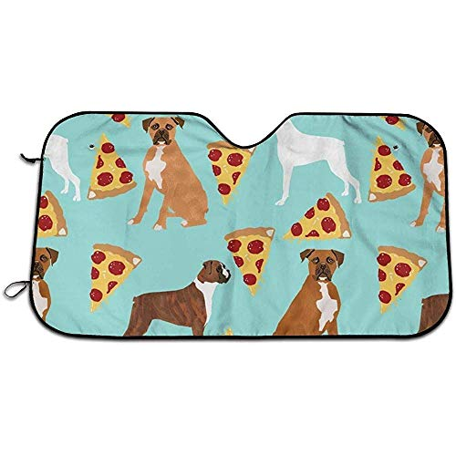 Ula Reed Boxer Dog Pizza Car Parabrisas Sun Shade UV Auto Pr