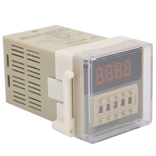 Relé de retardo de Tiempo, relé de Temporizador de Pantalla LCD, Digital DH48S-2Z para Vallas publicitarias al Aire Libre, lámpara de Carretera, Taller de(24VAC/DC)