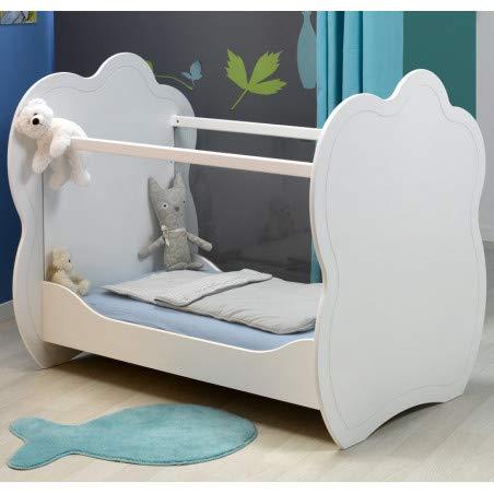 Alfred & Compagnie Lit bébé plexi blanc 60x120