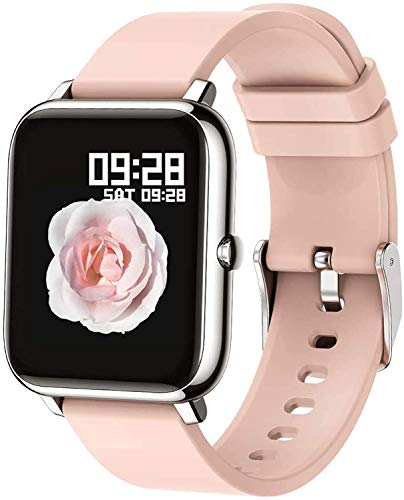 Popglory Smartwatch, Fitness Tracker mit Blutdruckmessung Fitness Armbanduhr mit Pulsuhr Schlafmonitor IP67 Wasserdicht Sportuhr Schrittzähler für Android und iOS Smart Watch für Damen Herren