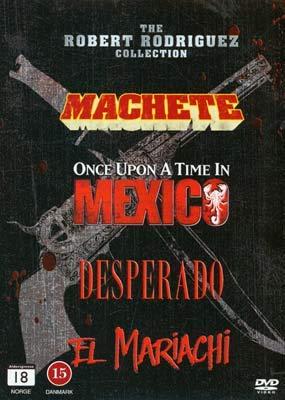 Robert Rodriguez Collection - 4-DVD Boxset ( Machete / Once Upon a Time in Mexico (Desperado 2) / Desperado / El Mariachi ) [ Schwedische Import ]